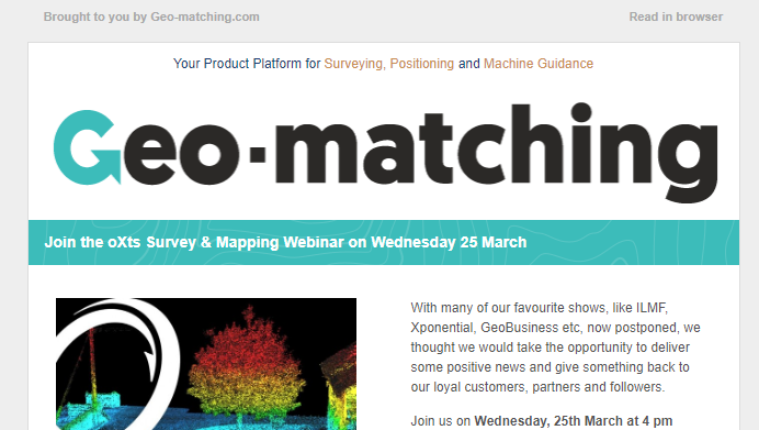 How Geo-matching Supported OxTS with Webinar Registrations